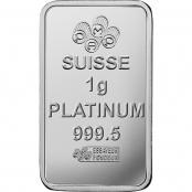 Multigram+25 Platin PAMP Suisse - 1 g Platinbarren Rückseite