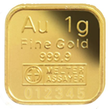 1 G Goldbarren 1 Gramm Feingoldbarren Lbma Zertifiziert