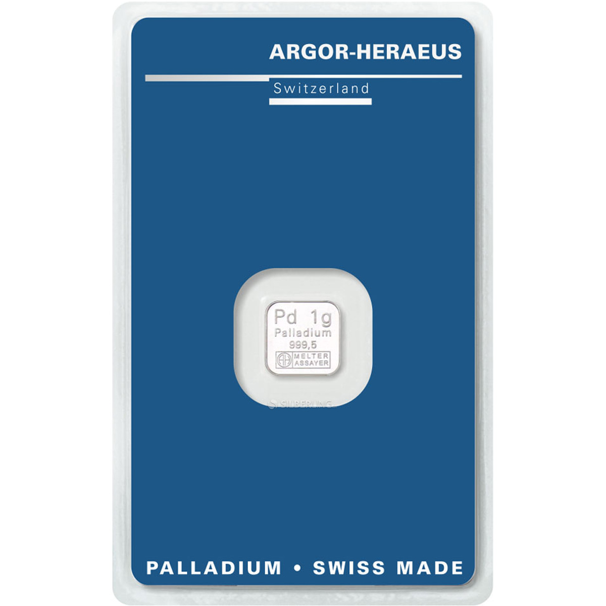 Palladium Bar 1 Gram Argor Heraeus Buy Online