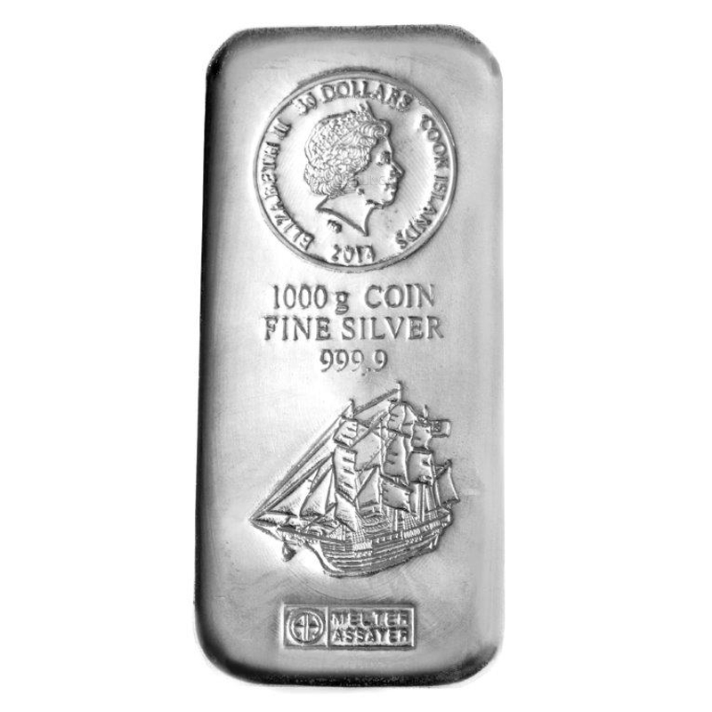 Silver Bar Cook Islands 1 Kilo Buy Online Silberling De