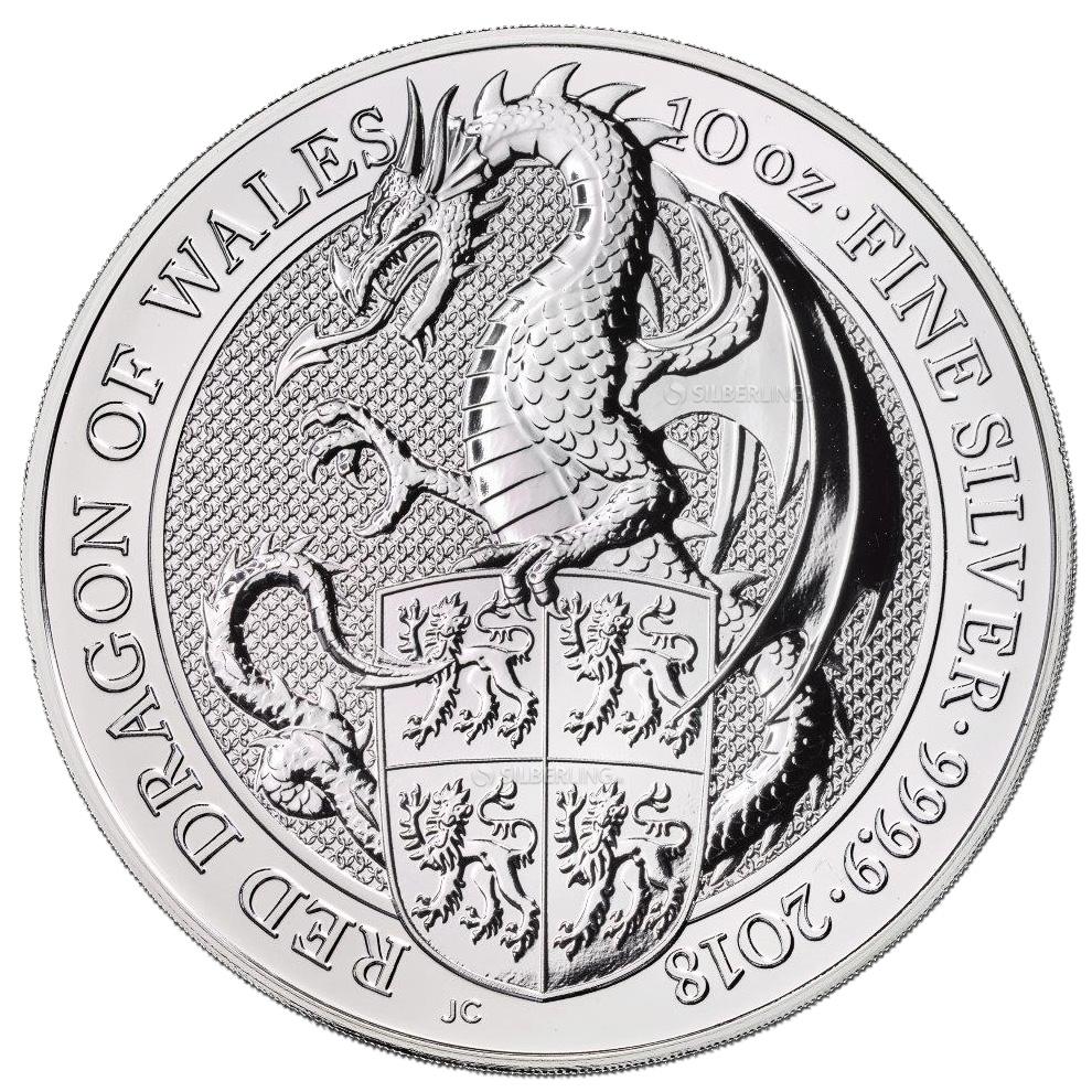 Queen S Beasts Dragon 10 Oz Silver 2018 Buy Online