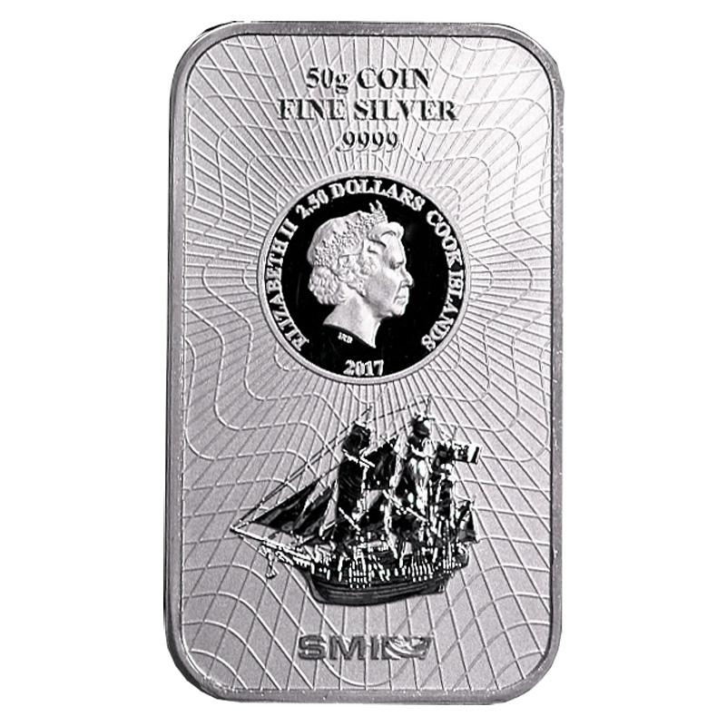 Silver Bar Cook Islands 50 Gram Buy Online Silberling De