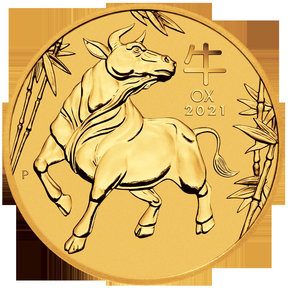 LUNAR OX 1 OZ GOLD 2021