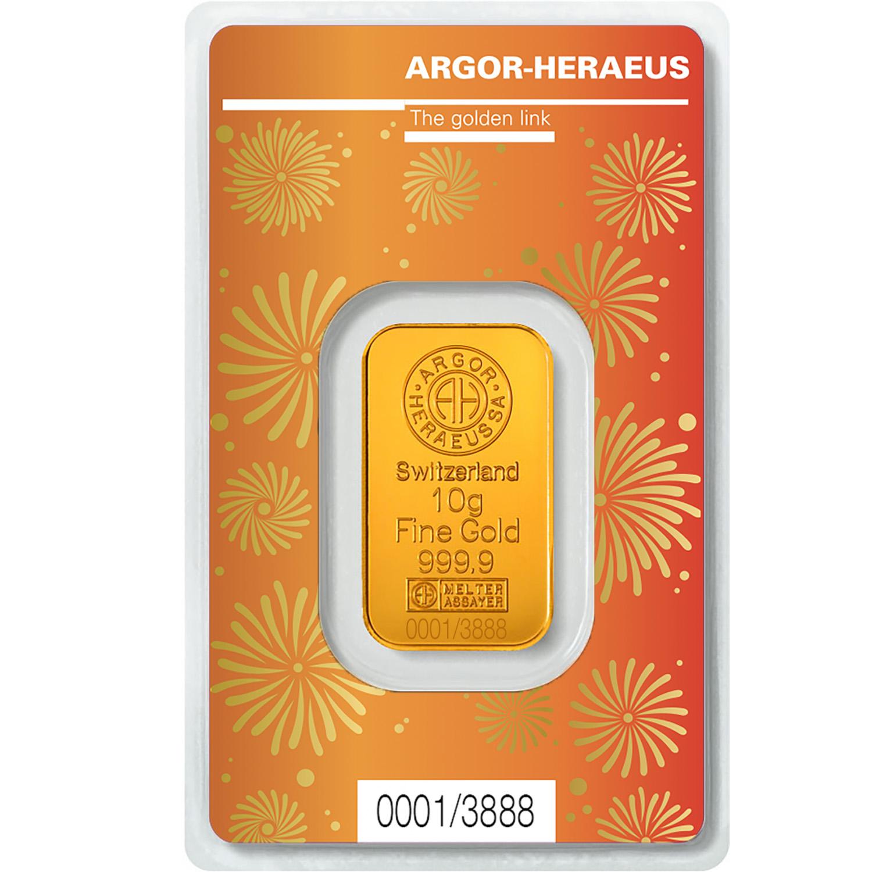 GOLD BAR 10 GRAM ARGOR-HERAEUS OX