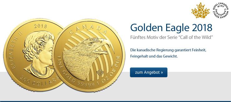Golden Eagle 1 oz Gold 2018 jetzt kaufen