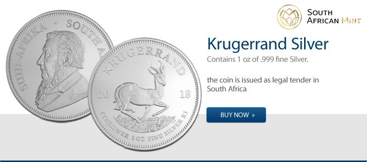Silber Krügerrand 2018 jetzt kaufen