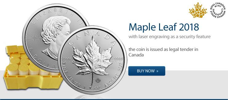 Maple Leaf Silber 2018 jetzt kaufen