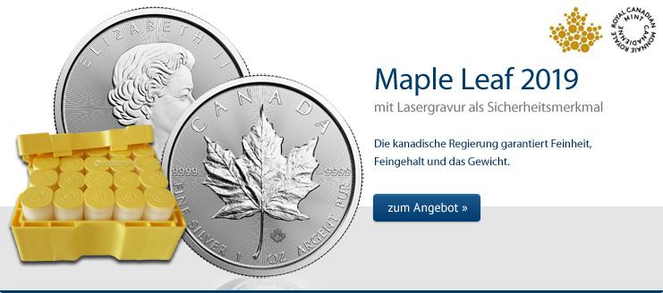 Maple Leaf Silber 2019 jetzt kaufen
