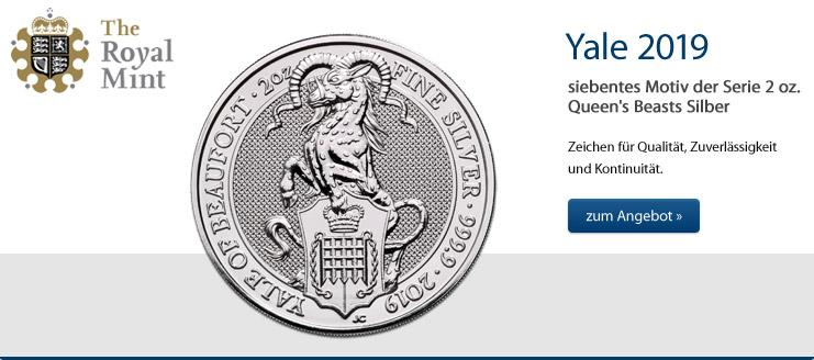 Queen's Beasts Yale 2 oz Silber 2019 jetzt kaufen