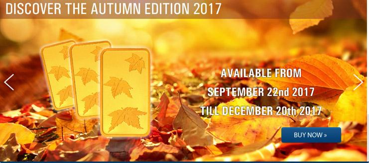 Goldbarren 1 Gramm Following Nature - Herbst jetzt kaufen