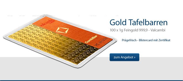 100 g Tafelbarren Gold jetzt kaufen