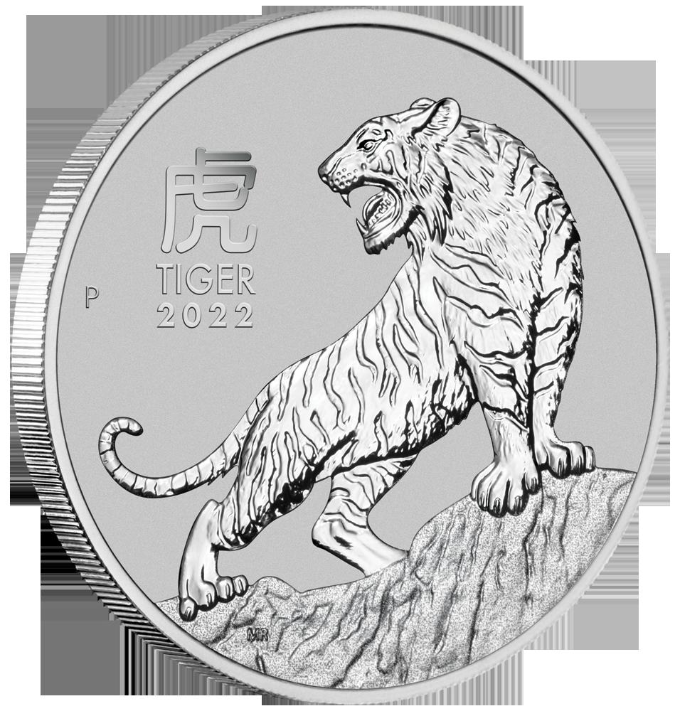 LUNAR III - TIGER 1 OZ PLATIN 2022