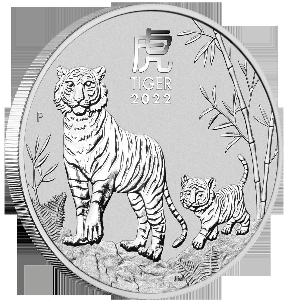 LUNAR III - TIGER 1 OZ SILBER 2022
